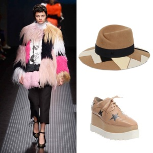 MSGM fur Maison Michel hat Stella McCartney Elyse shoes